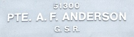 Image of plaque on tree N005 for Alfred Frank Anderson