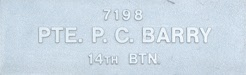 Image of plaque on tree S014 for Patrick Cecil Barry