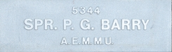 Image of plaque on tree S010 for Percival Grgory Barry