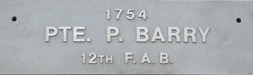 Image of plaque on tree N009 for Patrick Barry