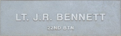 Image of plaque on tree  for James Richard Bennett
