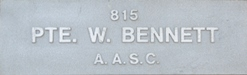 Image of plaque on tree N015 for William bennett