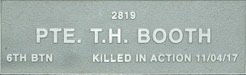 Image of plaque on tree S020 for Thomas Hart Booth