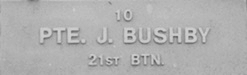 Image of plaque on tree N033 for James Bushby
