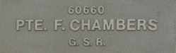 Image of plaque on tree N049 for Francis Chambers