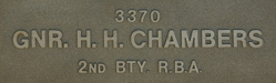 Image of plaque on tree N051 for John Chambers