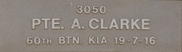 Image of plaque on tree N053 for Archbold Clark