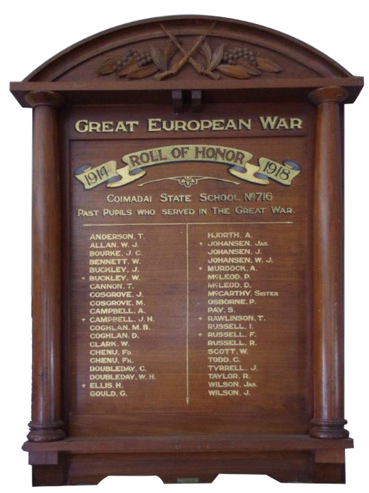 A photograph of the Honour Roll