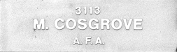 Image of plaque on tree N067 for Martin Cosgrove