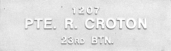 Image of plaque on tree S070 for Richard Croton