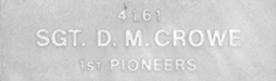 Image of plaque on tree N069 for David Crowe