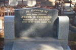 Headstone for Athol Cumming
