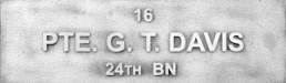 Image of plaque on tree S080 for George Davis