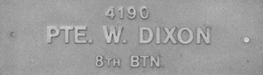 Image of plaque on tree N089 for William Dixon