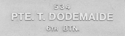 Image of plaque on tree S090 for Thomas Dodemaide