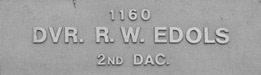 Image of plaque on tree N103 for Ross Edols