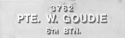 Image of plaque on tree N113 for William Goudie