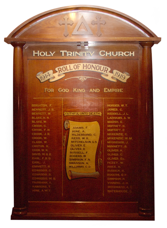 A photo of the Bacchus Marsh Holy Trinity Church Rollof Honour