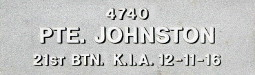 Image of plaque on tree S130 for William Johnston