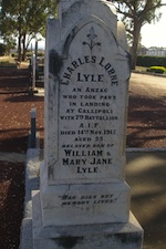 Headstone for Charles Lyle