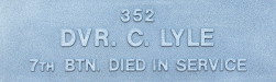 Image of plaque on tree N153 for Charles Lyle