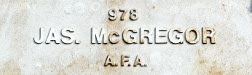 Image of plaque on tree S182 for James McGregor
