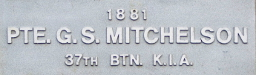 Image of plaque on tree S162 for George Mitchelson