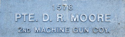 Image of plaque on tree N171 for David Moore