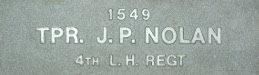 Image of plaque on tree S190 for John Nolan