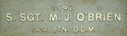 Image of plaque on tree S192 for Michael O′Brien