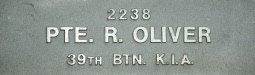 Image of plaque on tree S196 for Robert Oliver