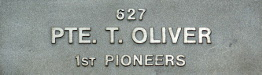 Image of plaque on tree N195 for Thomas Oliver