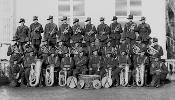 Group portrait of the band of the 59th Battalion