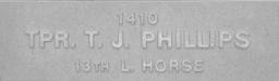 Image of plaque on tree S212 for Thomas Phillips