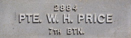 Image of plaque on tree S214 for Hubert Price