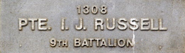Image of plaque on tree N227 for Ivan Russell