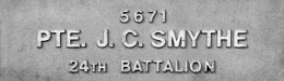 Image of plaque on tree S244 for John Smyth