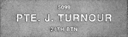 Image of plaque on tree N259 for James Turnour