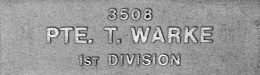 Image of plaque on tree N269 for Thomas Warke