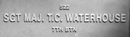 Image of plaque on tree N270 for Thomas Waterhouse