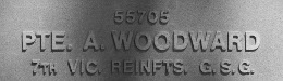 Image of plaque on tree S280 for Albert Woodward